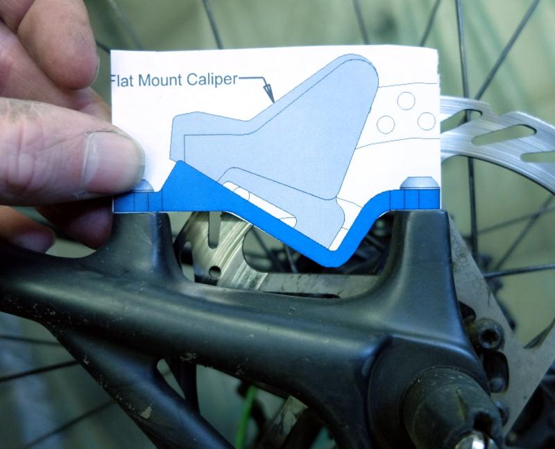 Flat Mount Brake Caliper on a Post Mount Frame or Fork